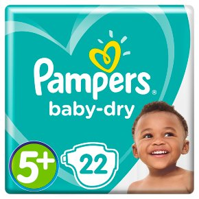 Pampers Baby Dry Sze 5+ Carry 22 Nappies