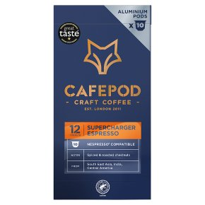Cafépod Supercharger 10 Capsules Strength 12