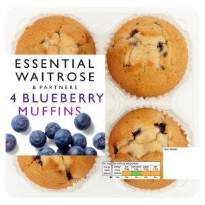 essential Waitrose 4 Blueberry Muffins