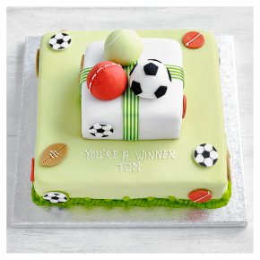 Fiona Cairns 2 Tier Multi Sports Cake
