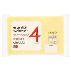 essential Waitrose Farmhouse Mature Cheddar Strength 4