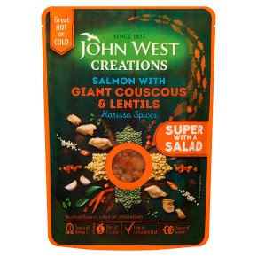 John West Creations Salmon with Giant Couscous & Lentils