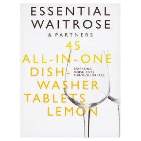 essential Waitrose Dishwasher Tablets Lemon 45s