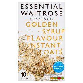 essential Waitrose golden syrup instant oats