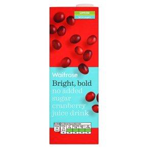 Waitrose no added sugar cranberry juice