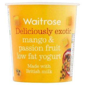 Waitrose deliciously exotic mango & passionfruit low fat yogurt