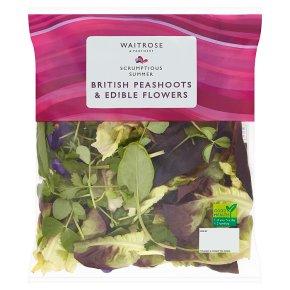 Waitrose Brit Peashoots & Edible Flowers
