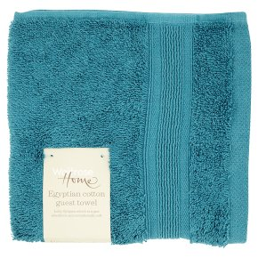 Waitrose Home Egyptian Cotton Guest Towel Peacock