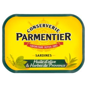 Hyacinthe Parmentier sardines in olive oil with herbs