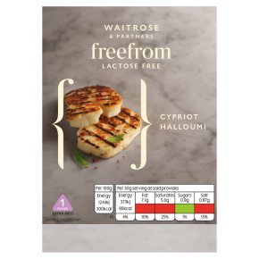 Waitrose Free From Lactose Cypriot Halloumi