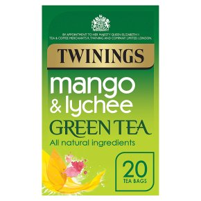 Twinings mango & lychee green tea 20 tea bags