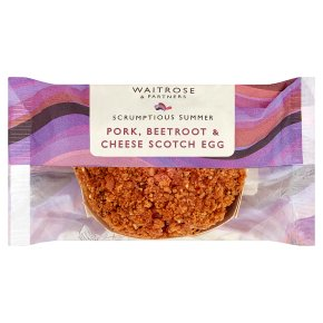 Waitrose Pork & Beetroot Scotch Egg