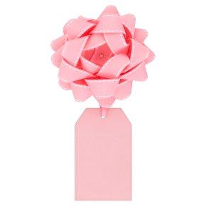 Waitrose pink bow & tag
