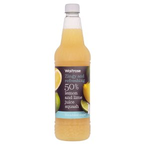 Waitrose 50% Lemon & Lime Juice Squash