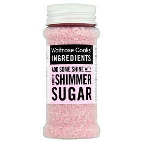 Waitrose Cooks' Homebaking pink shimmer sugar