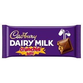 Cadbury Dairy Milk with Crunchie bits chocolate bar