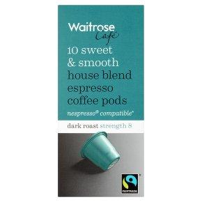 Waitrose Espresso Coffee Pods House Blend