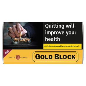 Gold Block Pipe Tobacco Pouch