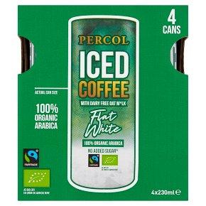 Percol Fairtrade Dairy Free Flat White Iced Coffee