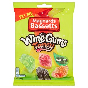 Maynards Bassetts Tangy Wine Gums Sweets Bag