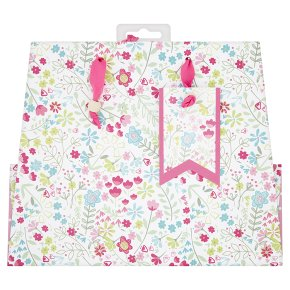 Waitrose Floral Medium Gift Bag
