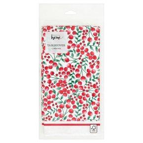 Waitrose Home Linen Feel Berry Tablecover