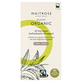 Waitrose Duchy Organic earl grey tea, 25 bags
