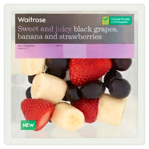 Waitrose Black Grapes, Banana and Strawberries