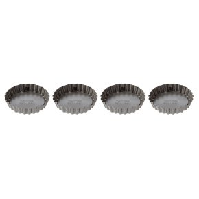 Waitrose Cooking Non-Stick Mini Loose Base Tart Tins