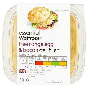 essential Waitrose Egg & Bacon Deli Filler