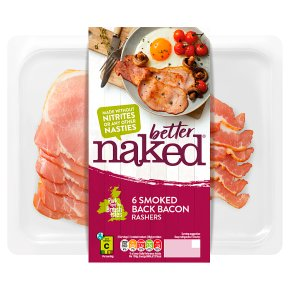 Finnebrogue Naked Bacon 6 Smoked Back Rashers