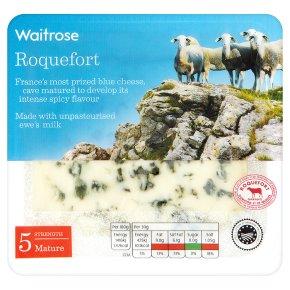 Waitrose mature Roquefort cheese, strength 5