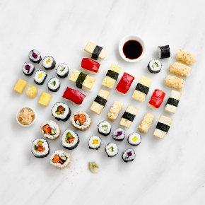 Taiko Vegetarian Sushi Platter, 40 pieces