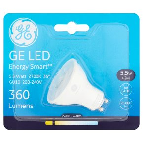 GE LED Energy Smart 360 Lumen 5.5W GU10
