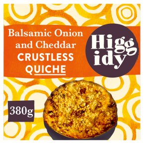 Higgidy balsamic onion & cheddar quiche