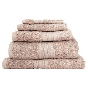 Waitrose Egyptian cotton hand towel flint