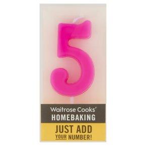 Waitrose Cooks' Homebaking Number 5 Candle
