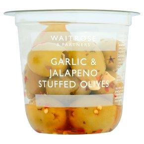 Waitrose garlic & jalapeno stuffed olives
