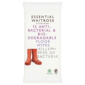 essential Waitrose anti-bacterial floor wipes