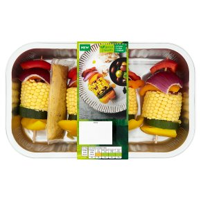 Waitrose 4 Corn & Vegetable Kebabs