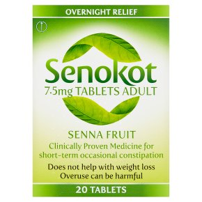 Senokot 20 senna tablets