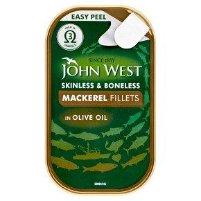 John West mackerel fillets in olive oil