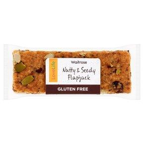 Waitrose Good To Go nutty & seedy flapjack