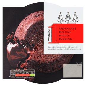 Waitrose 1 Chocolate Melting Middle Pudding