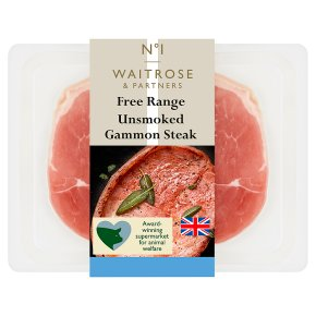 Waitrose 1 free range air dried unsmoked gammon steak
