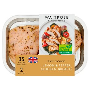 Waitrose Easy to Cook lemon & pepper chicken breasts
