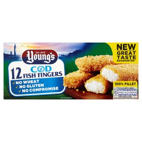 Young's 12 gluten free fish fingers