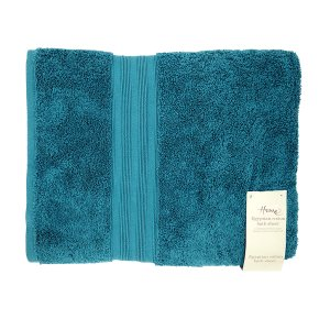 Waitrose Home Egyptian Cotton Bath Sheet Peacock