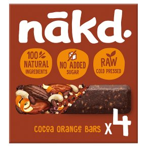 Nakd fruit & nut bars cocoa orange