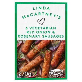 Linda McCartney's 6 Red Onion & Rosemary Sausages